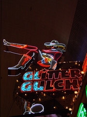 Glitter Gulch (Curtis Gregory Perry) Tags: old las vegas light signs gambling classic luz glass sign glitter night vintage licht neon sitting glow legs bright lasvegas lumire tube tubes casino ne retro sit signage glowing cowgirl dying luce muestra important signe sinal neons gulch  zeichen  non segno      teken      glowed    neonic