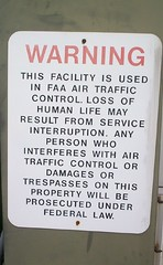 Airport warning sign (AprilDreams) Tags: sign warning newjersey airport morristown lossoflife