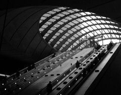 way out (Harry Halibut) Tags: station underground jubilee main line wharf docklands access canary londons allrightsreserved sirnormanfoster 123bw anglesanglesangles andrewpettigrew kazoo600