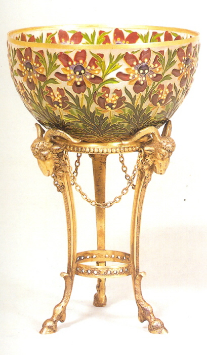André-Fernand Thesmar, bowl and base, 1897