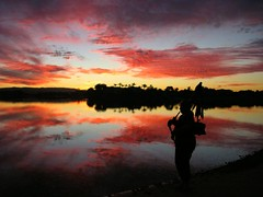 Sunset Piper (blue foot) Tags: sunset lake nature water clouds lakes australia piper bagpipes supershot the4elements platinumphoto goldstaraward