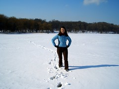 Walking Across the Lake (GoGrrlGo) Tags: ukraine janine donetsk
