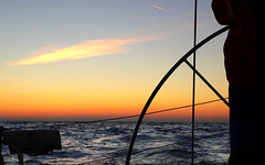 sunset in english channel