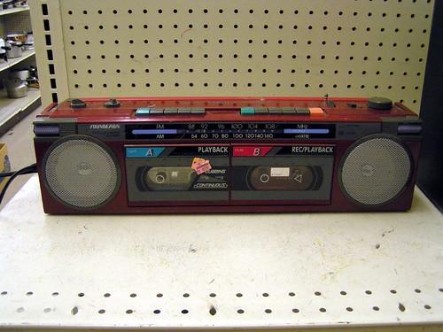 80s boombox, Auburn WA Goodwill, 10/11/05