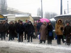 A Cold Kiev Bus Stop