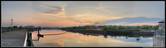 River Tees 2 (zhensem) Tags: sunset sky reflection water river landscape cool skies hdr photomatix perfectpanoramas tthdr 123sky hdrpanorama hdrpano