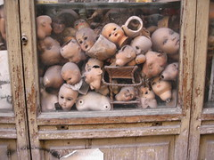 store window in Rome (snoopygirl) Tags: italy rome window public dead doll dolls antiques