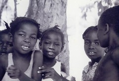 Santigron children (Suriname) 2 (Ahron de Leeuw) Tags: travel blackandwhite bw children child maroon interior surinam marroon suriname binnenland santigron ahrondeleeuw
