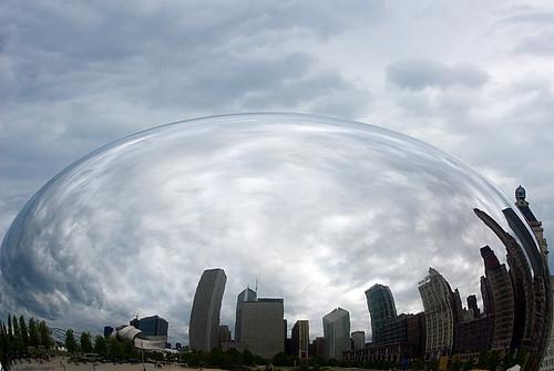 Cloud Gate gota de agua