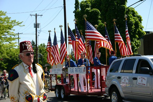 shriners+flags=st johns parade