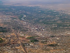Aerial Albuquerque (Stones 55) Tags: albuquerque newmexico riogrande interstate40 interstate25 interstate aerial