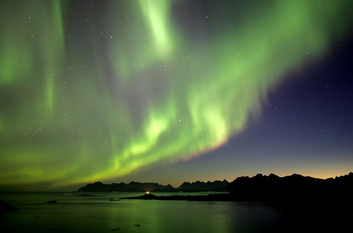 Northern Lights, Greenland by nick_russill, on Flickr