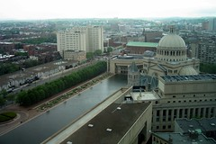 Boston: Christian Science Center (aerial) (wallyg) Tags: church boston basilica massachusetts aerial romanesque backbay bostonist christiansciencecenter christiansciencechurch impie reanissance oldworldbuilding
