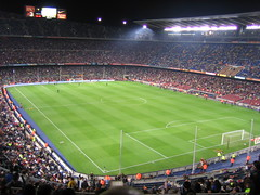 Camp Nou. 14-04-2006 (Laure) Tags: barcelona 15fav football interestingness stadium soccer fav futbol favorita campnou bara fcbarcelona ixus30 canonixus30 lliga estadi