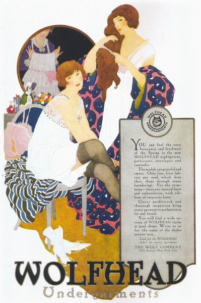 "The Reeses, ""Wolfhead Undergarments"" ad, 1919"