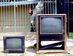 TV and Brother TV (See El Photo) Tags: street 2 two 15fav trash fence tv nice furniture pair great abandonded 400views 300views 200views 500views 3f 800views 600views 700views 4f 1f faved killyourtv 2f 333v3f 222v2f 444v4f 111v1f thrownout killtv pairoftvs
