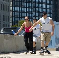 Hang On! (MerlinsMan) Tags: chicago skaters lakeshoredrive 28105nikkor