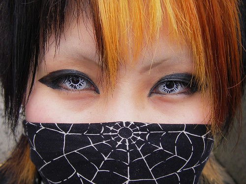 Cosplay Kid with Contacts, Harajuku, Tokyo, Japan