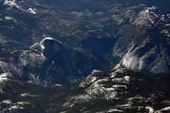 [フリー画像] [自然風景] [峡谷の風景] [岩山の風景] [航空写真] [Half Dome] [アメリカ風景] [ヨセミテ国立公園]    [フリー素材]