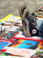 Make Art not War (4BlueEyes Pete Williamson) Tags: streetart canada art converse chucktaylor armymen odour conns 4blueeyes sarniaartwalk