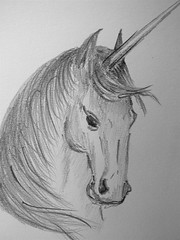 Unicorn sketch (koalie) Tags: bw art pencil nb unicorn byme bykoalie