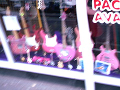 pinkguitars (hopscortch) Tags: pink guitars shops