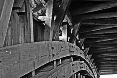 geometry (jami~) Tags: bw geometry coveredbridge beams innerworkings nutsandbolts ondisplay theonlyclassieverhadtorepeat whydoiloveitsomuchnow