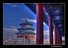 Tiantan(Temple of Heaven)-2 (cavenli2008) Tags: china blue sky cloud d50 beijing nikond50 filter templeofheaven hdr tiantan cpl tamron2875mmf28 tamrona09 angkorsingle