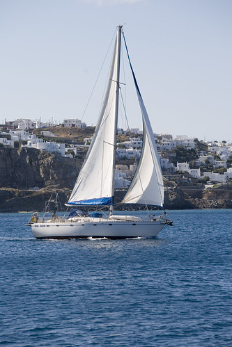 sailboat greece sail mykonos wavedancer