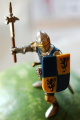 A Knight in Plastic Armor (spleenboy) Tags: closeup toy watermelon plastic suit armor knight