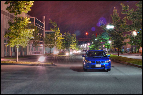Subaru STI at night ver 1.0
