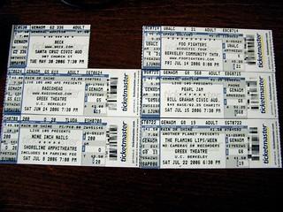 Summer 2006 Concerts