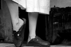 She said she was a dancer (Knrad) Tags: bw dance ballerina danza dancer piedi biancoenero corradogiulietti
