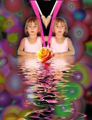 BIRTHDAY (CARLOSWEICK) Tags: flowers party portrait people kids photoshop baloon fantasy photomontage childrens fairytales photoillustration photoshoop casadosol cweick mundouno blackribbonicon mundone mundoune greatportraits
