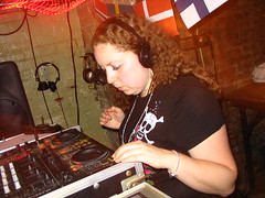 DJ Seeking Irony is focused on the music (MelissaInWheaton) Tags: washingtondc cafesaintex hejhej gate54 seekingirony