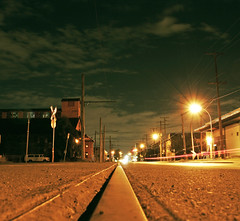 1st Avenue (Bhlubarber) Tags: street city night vancouver strada industrial empty first fv5 ave falsecreek fv10 400views railwaytrack notte davidniddrie
