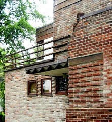Cori Residence -- cantilevered canopy (Remiss63) Tags: wood copyright white house building brick home architecture modern design paint photographer exterior masonry modernism july 2006 architect photographs photograph saintlouis residence armstrong allrightsreserved modernist archtecture cori 1935 nobelprize cubic raimist harrisarmstrong andrewraimist coriresidence remiss63 july2006 carlcori gerticori