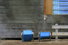 Blue carts 4149.1 (Yukon White Light) Tags: wood blue detail window norway svalbard arctic carts wal nylesund