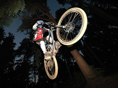 4X and almost dark... (andy_c) Tags: silly bike bicycle matt cycling jump cove mountainbike mtb freeride chicksands interestingness379 i500