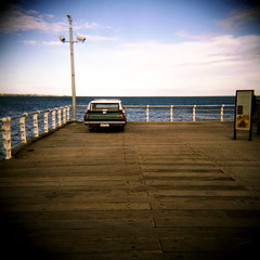 parking ... again (thescatteredimage) Tags: film topf25 car topv111 holga topv333 iso400 melbourne valiant stkilda stkildapier flickrwalkabout fujipro