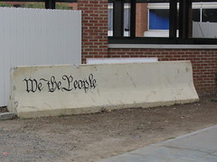 We the people Jersey barrier