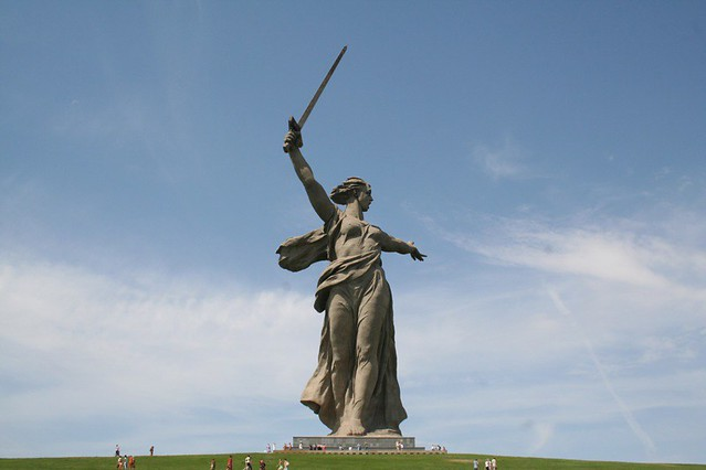 Mother Russia Statue