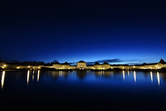 Royal Twilight [Explored] (DILLEmma Photography) Tags: bluehour exposure lights nightlights sky reflection dawn night architecture palace baroque residence royal bavaria germany clouds water blue