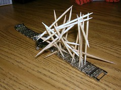 Crazy Abstract Waste of Time (zilliontrillion1) Tags: watch toothpicks