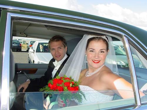 Jóhann Grétarsson og Erla Sóley á brúðkaupsdaginn 21.ágúst 2004