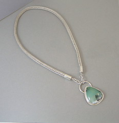Chrysoprase Viking Knit (SCJ Jewelry Design) Tags: silver with handmade knit jewelry viking dendrites chrysoprase scjjewelrydesign scjjewelrydesignetsycom sandycahilljohnson