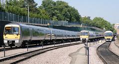 Wembley DMUs (R~P~M) Tags: uk greatbritain england london train diesel unitedkingdom railway depot 168 wembley 165 dmu chilternrailways multipleunit dbarriva