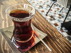 Tea while I wait (Melissa Maples) Tags: cameraphone food brown apple café turkey restaurant asia tea drink türkiye antalya bakery iphone 土耳其 iphone6 çıtırımfırın