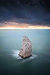 The guardian of Etretat (FredConcha) Tags: sunset sea france rock mar normandie etretat nord 1635 falesias nikond800 fredconcha