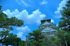 Osaka008 (Kosei.S) Tags: city blue sky cloud castle japan japanese nikon sunny oska d800
